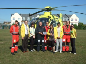 Essex Air Ambulance Landing 22nd Sept 2009